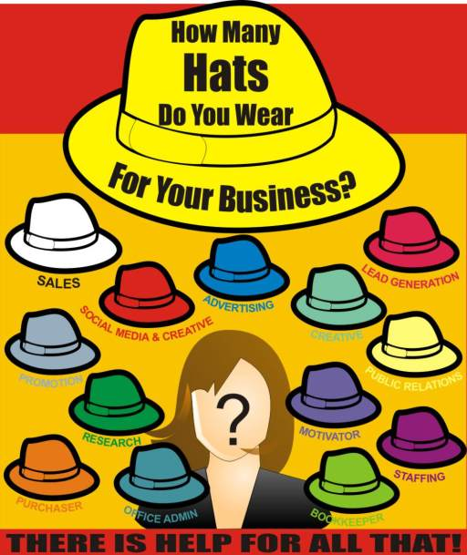How many hats do you wear for your business?